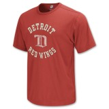 Perfect Style Reebok Detroit Red Wings Classics NHL Men's Tee Red QQ83807