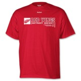 Specific Design And Style Reebok Detroit Red Wings Call Sign NHL Men's Tee Red WH60780